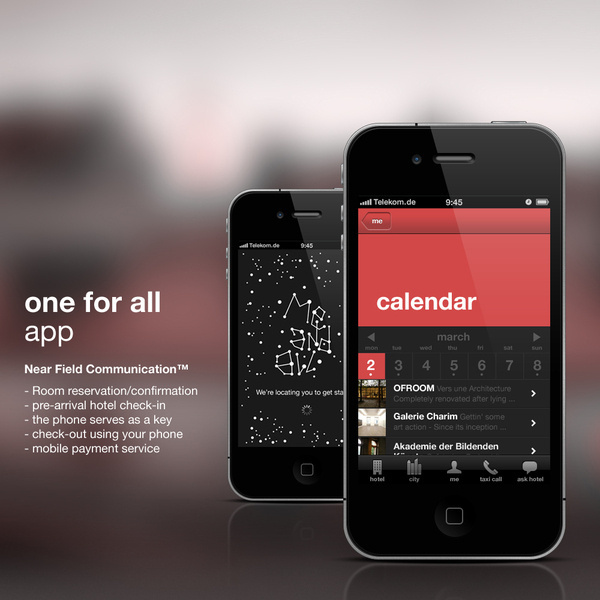 me and all hotels iPhone App on Behance #calendar #app #ui