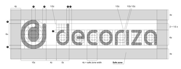 Decoriza logo construction detail #logo #circles #construction
