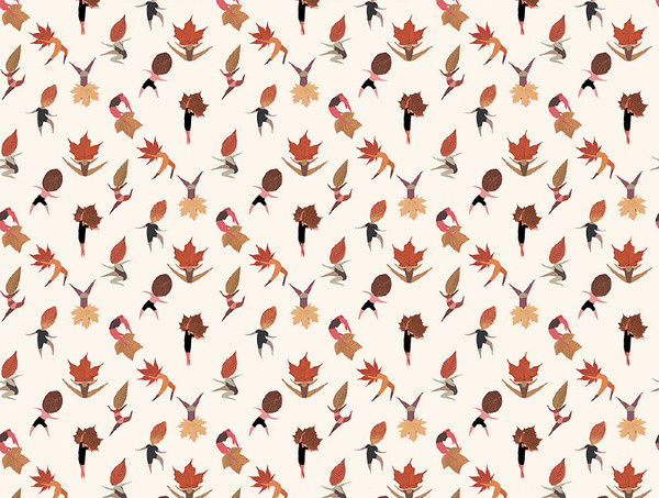The Wallery mariadiamantes #pattern #leaf #thewallery #design #dance #dancing #illustration #wall #autumn #vinil