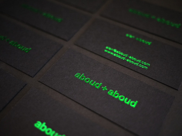 aboud+aboud #logo #card #identity #business