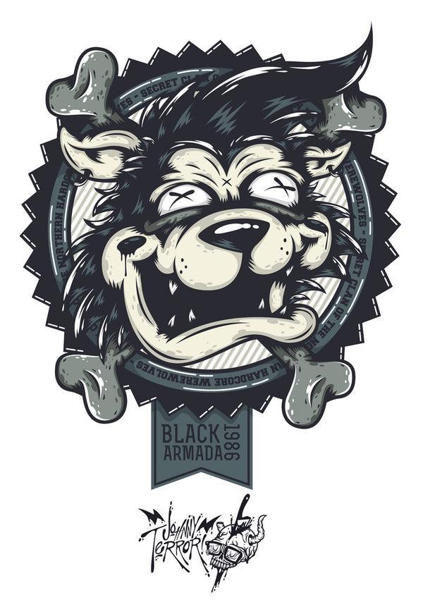Black Armada's Hardcore Werewolf on Behance #apparel #design #details #illustration #character