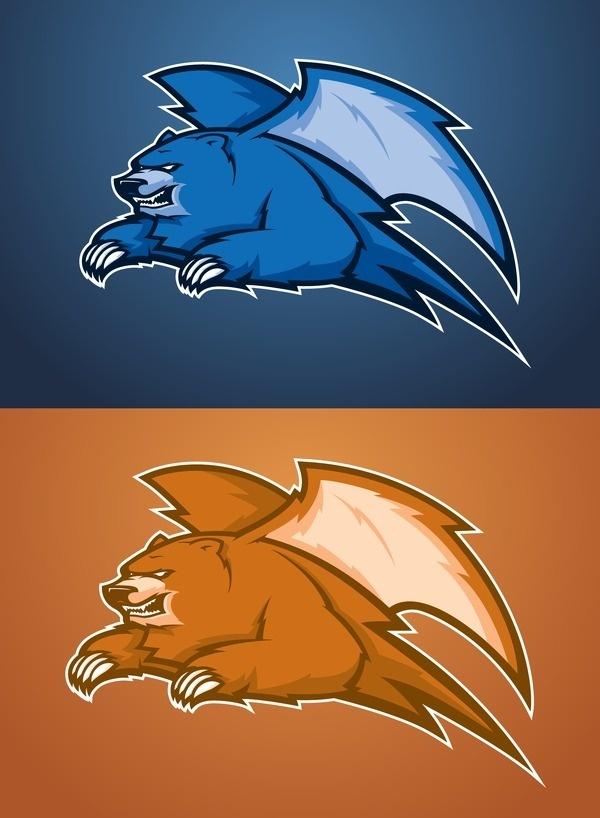 Bear o dactyl_v2 05 #logo #bear #sports