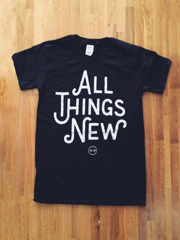 All Things New Black Tee main photo #merch #sans #tshirt #shirt #floor #wood #custom #type #band #typography