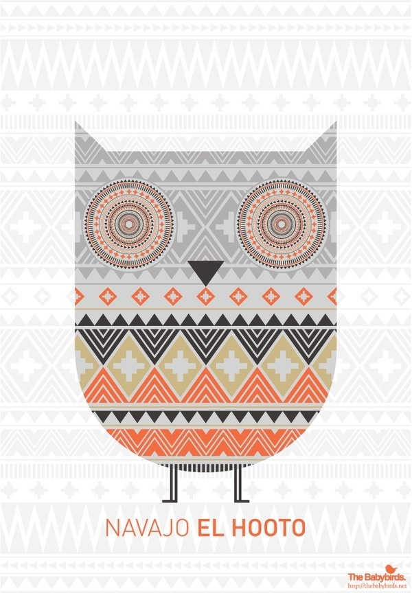 hooto #pattern #owl #navajo #tribal #birds #hoot