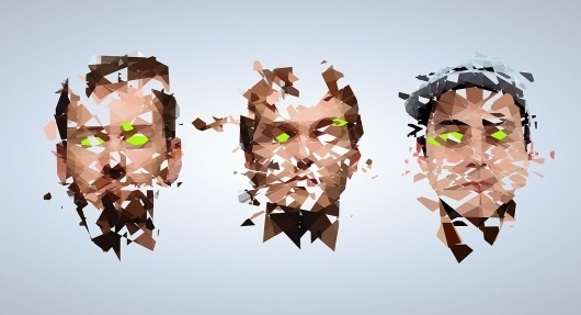 Baxter, Jeff . Future Faces #facets #illustration #faces