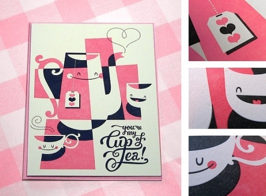 Esther Aarts » You're my cup of tea! #teapot #illustration #poster