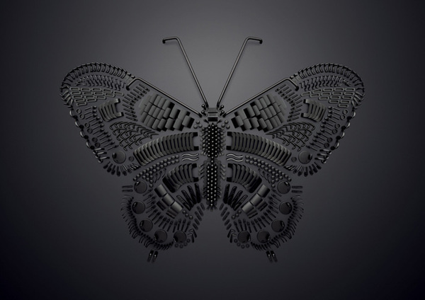 Pieces butterfly by Sarah Illenberger #butterfly #pieces #art