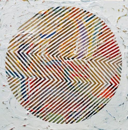Free as a Bee #circle #collage #geometric