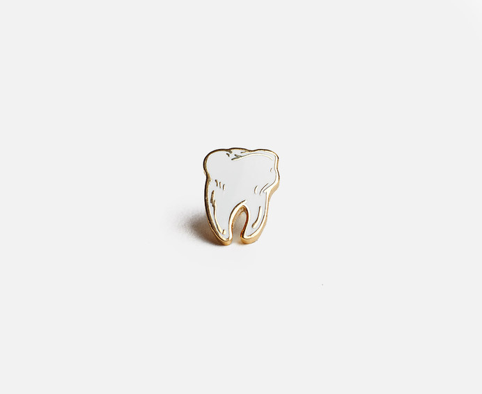 Prize Pins #pin #tooth #gold #enamel