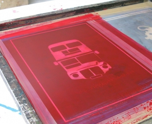 Made By Morris #bus #printed #silkscreen #red #london #hand