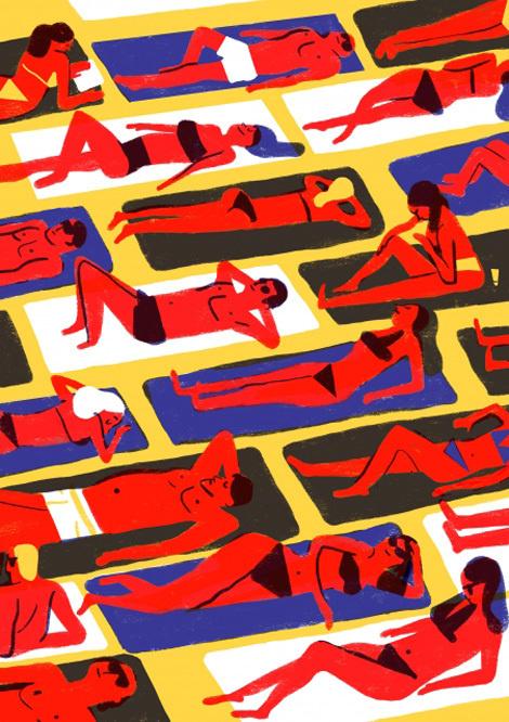 Virginie Morgand #morgand #virginie #illustration #french #beach