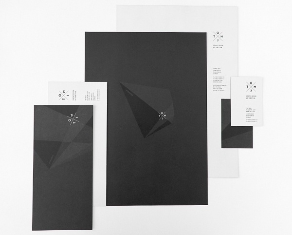 FPO: TOMJ Stationery #white #business #modern #black #clean #identity #monostroke #package