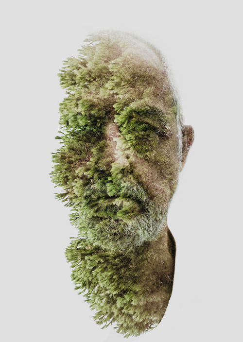 """Father"" double exposure by Alessio Albi #design #exposure #father #photography #nature #double #art"