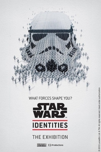 star_wars_identities_exhibit_posters_1.jpg (600×900) #blackwhite #wars #illustration #mosaic #star #poster #layout