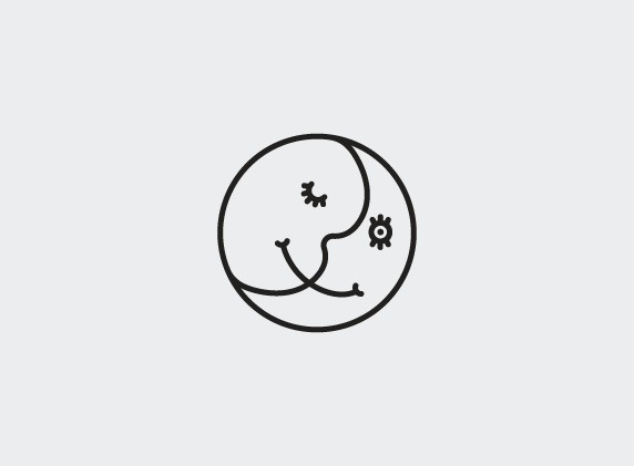 Moon: Double personality #line #personality #illustration #smile #split #double #moon