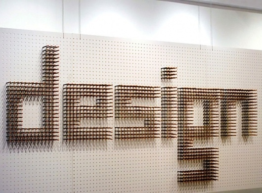 good_design_lasts2.jpg (JPEG Image, 678×500 pixels) #design #intallation #exhibit #type #typography