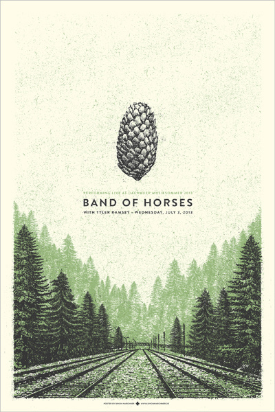 GigPosters.com Band Of Horses Tyler Ramsey #gig #poster