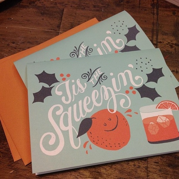 Zoom Photo #lettering #script #card #orange #squeeze #holiday #typography