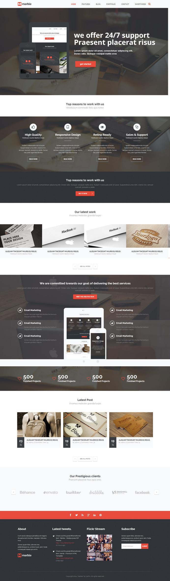 red, one page, wordpress, website, portfolio #red #page #portfolio #website #one #wordpress