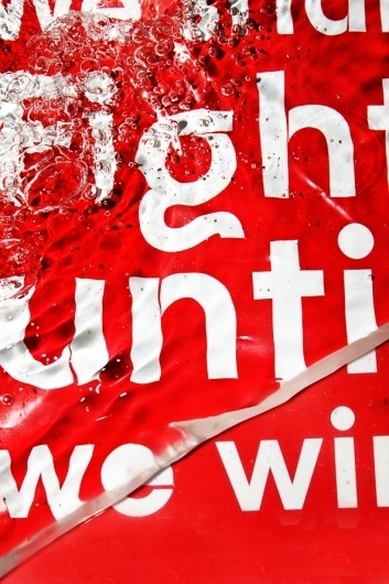 Typography in Water on the Behance Network #typography