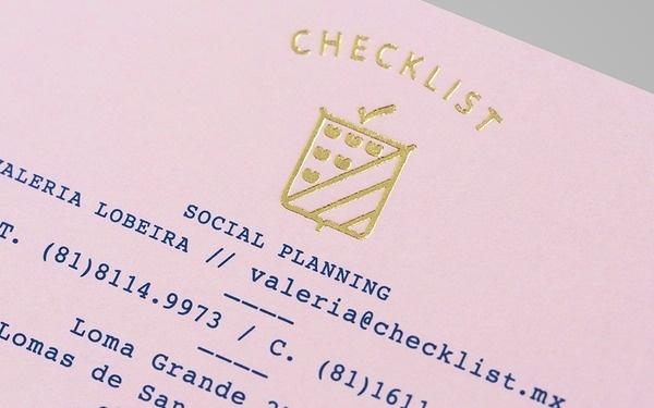Anagrama | Checklist #stamp #printing #identity #logo #foil