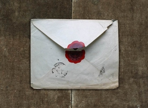 Free as a Bee #packaging #letter #old #seal