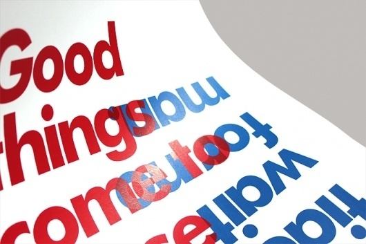 Contradictions - Charlie De Grussa #blue #screenprint #red #typography