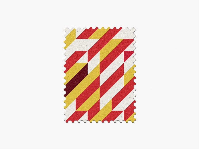 Spain #stamp #graphic #maan #geometric #illustration #minimal #2014 #worldcup #brazil