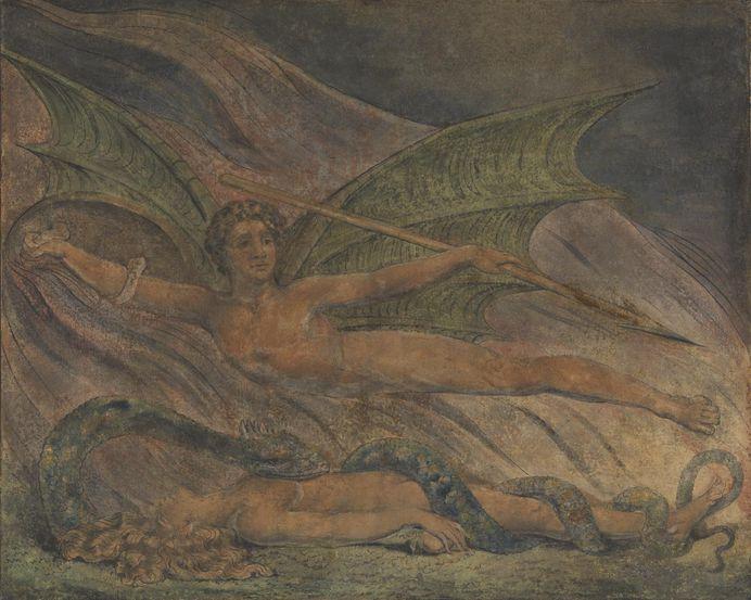 'Satan Exulting over Eve', William Blake, c.1795 | Tate