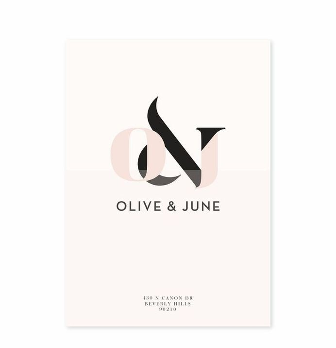 OliveJune #logo invitation