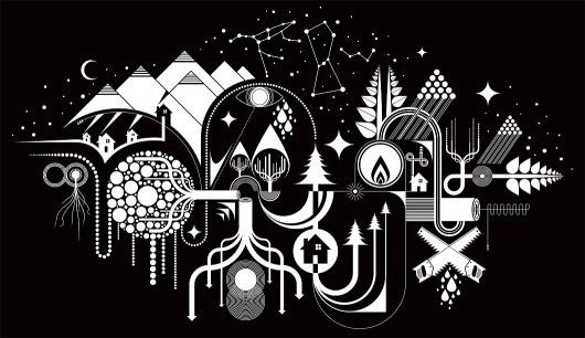 MWM Graphics | Matt W. Moore #white #black #symbols #illustration #stars #and