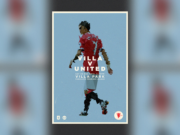 U.N.I.T.E.D Match Day Posters on Behance #abstract #red #print #player #manchester #texture #soccer #united #art #poster #type #football