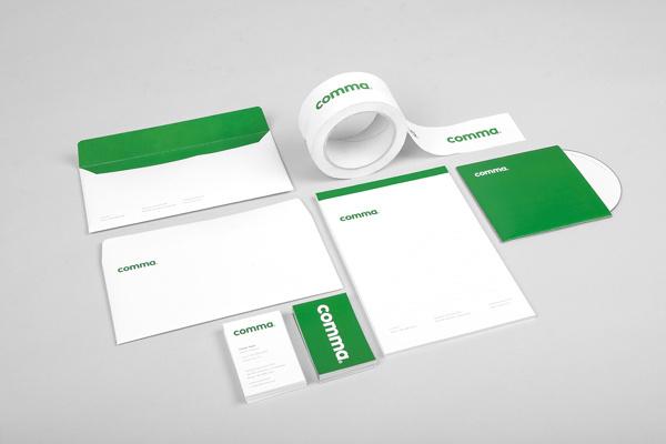 Comma #brand #logo #print #stationary