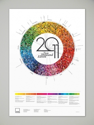 Pantone Calendar on the Behance Network #colors #pantone