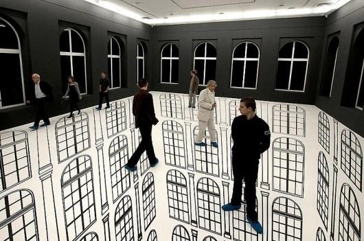 tumblr_lzovse8hwn1qbklpto1_1280.jpg (750×498) #white #installation #perspective #black #art #and