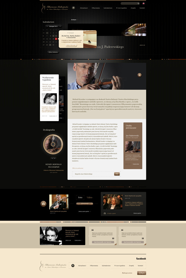 Rzeszow Philharmonic on Behance #design #web