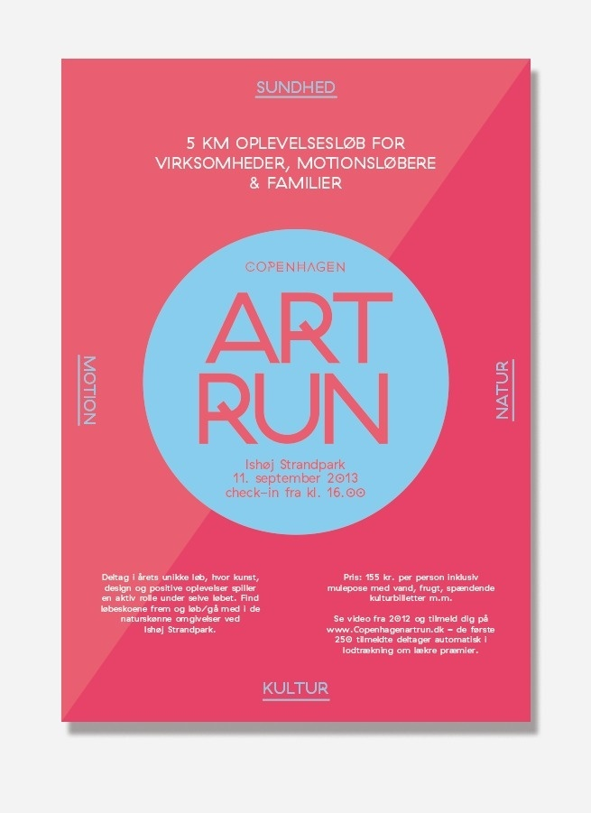 Visual identity for Art Run, Copenhagen. Made by: shft.dk #visual #branding #shft #design #graphic #identity