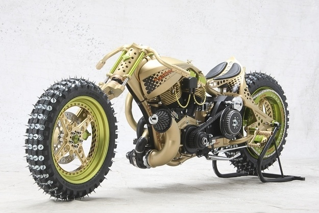 Twibfy #racer #gold #ice #spike #motorcycle #green