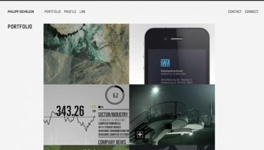 Philipp Oehrlein - Web design inspiration from siteInspire #layout #design #web #interface