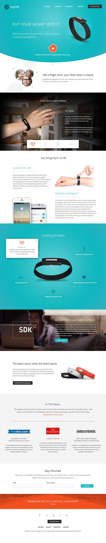 Nymi Band Website #branding #ux #ui #layout #web