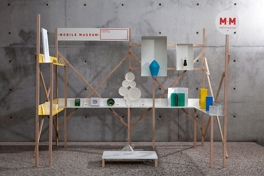 Build Process : Mobile Museum #museum #installation #exhibition #wood #mobile #scenography