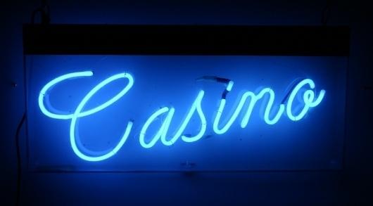 Neon Circus + hire neon signs - neon sign hire #casino #blue #neon