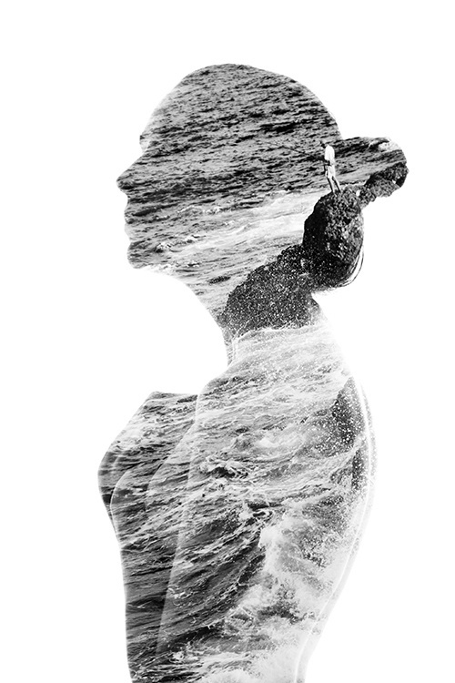 Stunning photo manipulations by Aneta Ivanova #overlay #photography #woman #nature