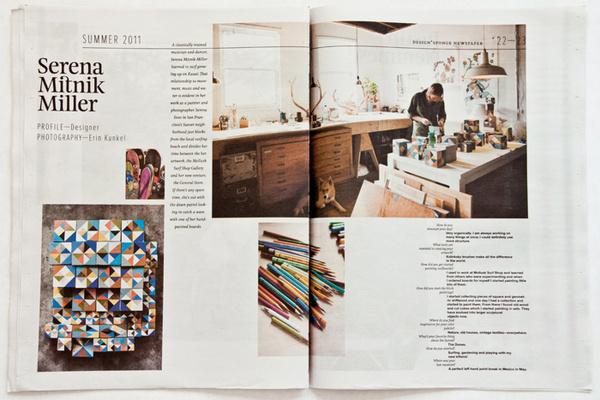 Design*Sponge Summer 2011 Newspaper #dye #lab #print #newspaper #editorial