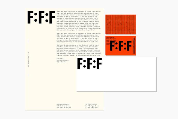 Fluxus Film Festival by Patrick Slack — The Brand Identity