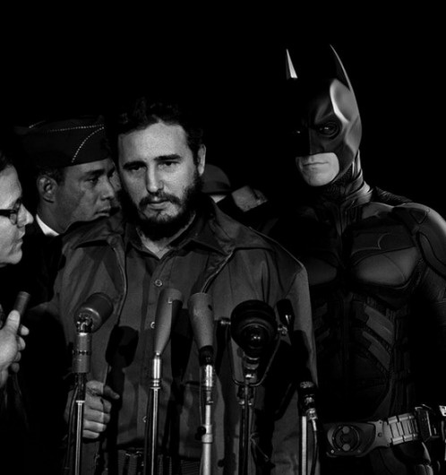 Super Hero | Fubiz™ #cuba #fidel #batman