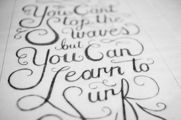 Hand Lettering by Christopher Vinca #lettering #script #surfing #drawn #hand #typography