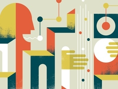 Dribbble - One Man Band by Doublenaut #color #wave #illustration #sound #man #hand