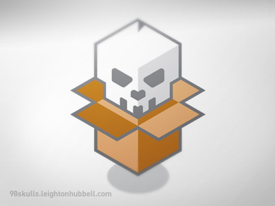 Lch_98skulls_inside_box #skull #vector #box