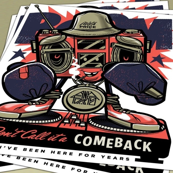 Don't call it a comeback #ll #j #illustration #poster #cool